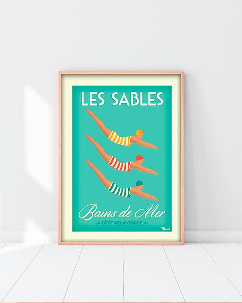 Affiche Marcel - Bains de mer aux Sables