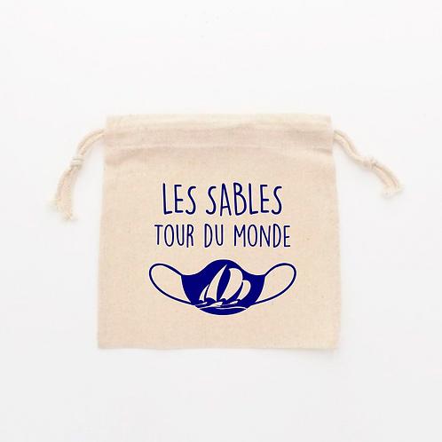 Pochette à Masques - LES SABLES TOUR DU MONDE - VENDÉE GLOBE 2020