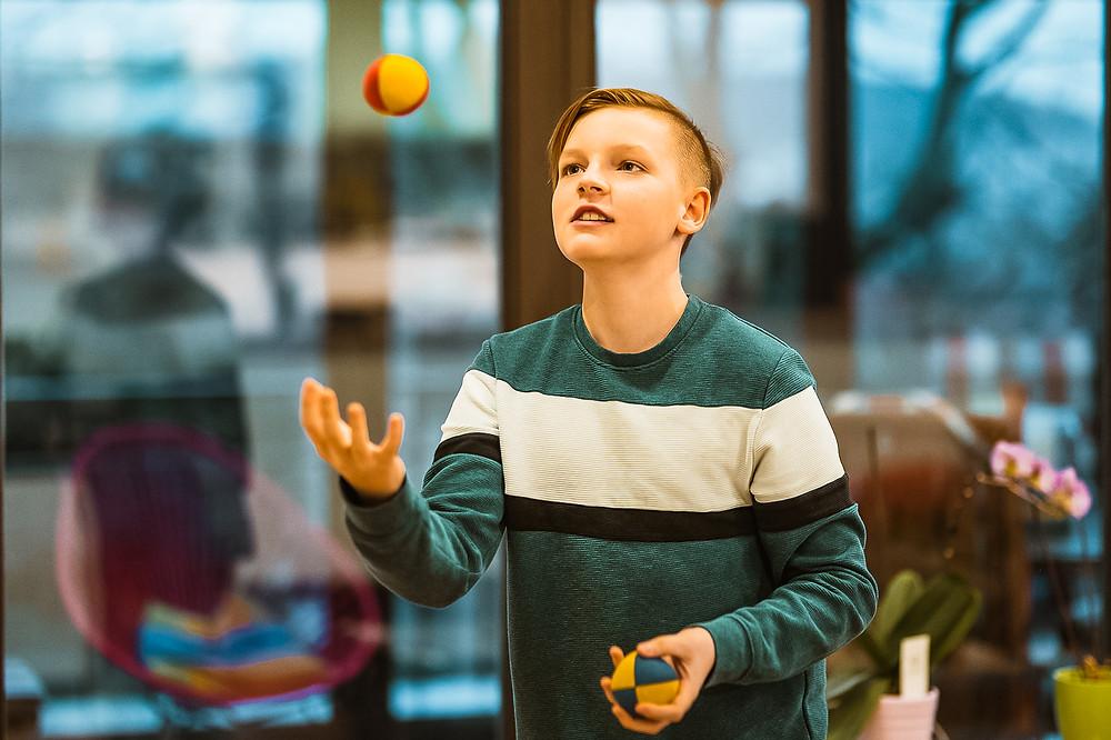 Jonglieren, Gehirnjogging, Bewegung