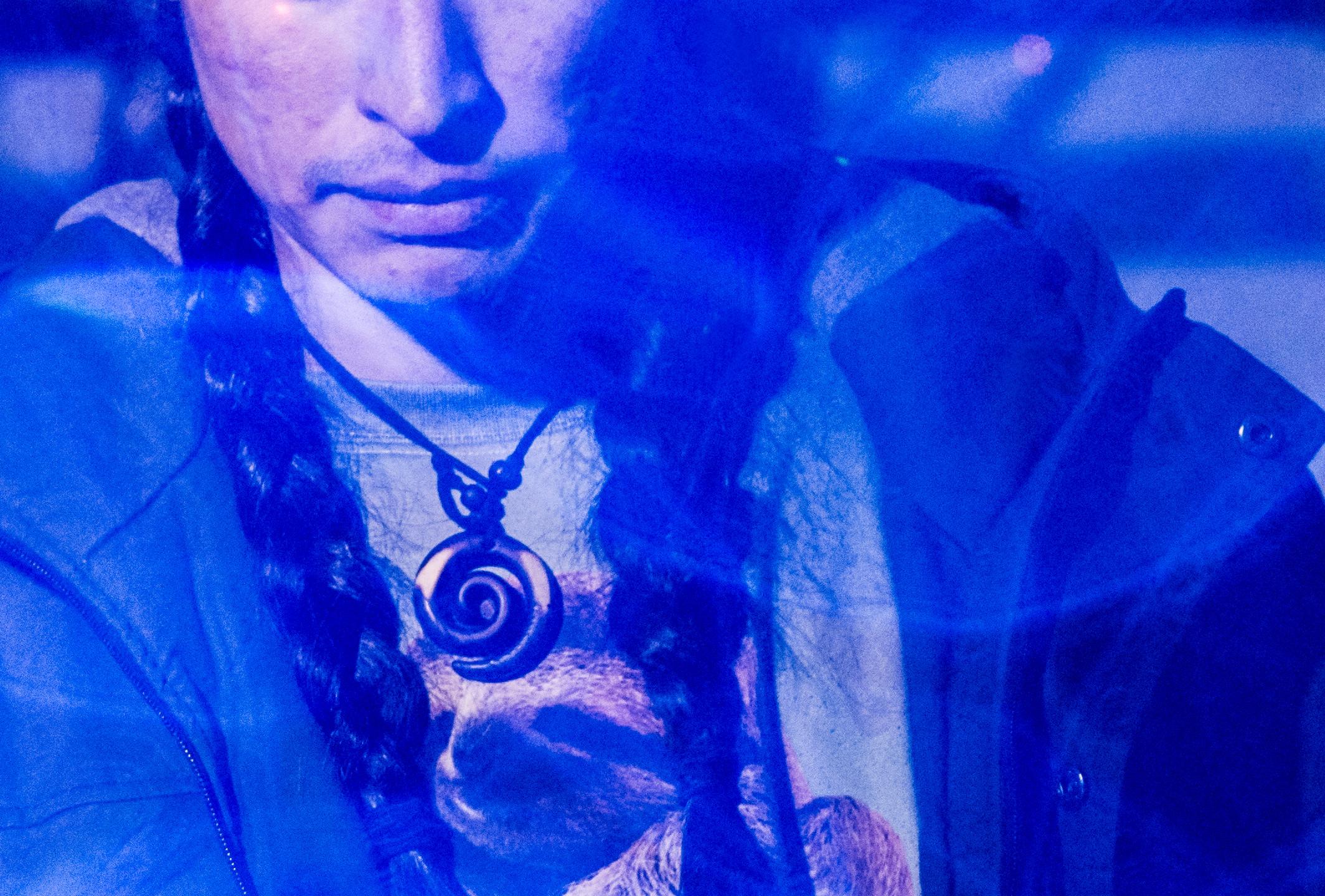 "DJ Uyarakq from Greenland plays ""Igloo music"" on his Gameboy, Anchorage, AK 2017."