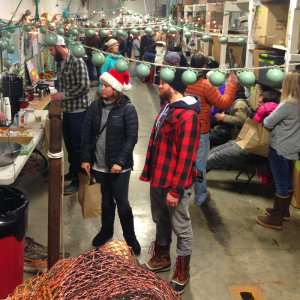 Young fishermen at the Network's Fishmas event in Homer in December.