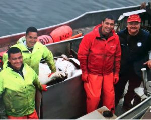 Connie's dad and brothers on the Aleut Crusader