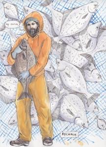 """Mycatch"" by Homer fisherman, Oceana Wills, who setnets for salmon in Bristol Bay"