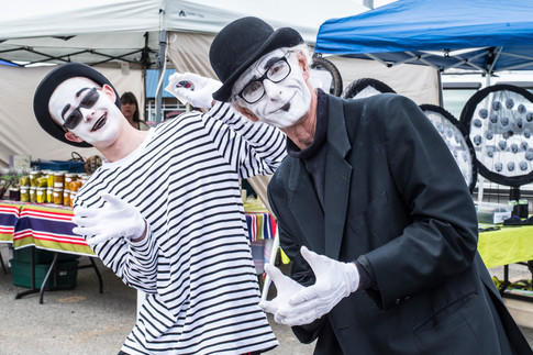 The mimes of Spenard: Revitalization of area chief aim of silent entertainers, who aim to set Guinne