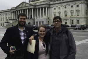 Left to right: Frankie Balovich, Hannah Heimbuch and Jeff Farvor