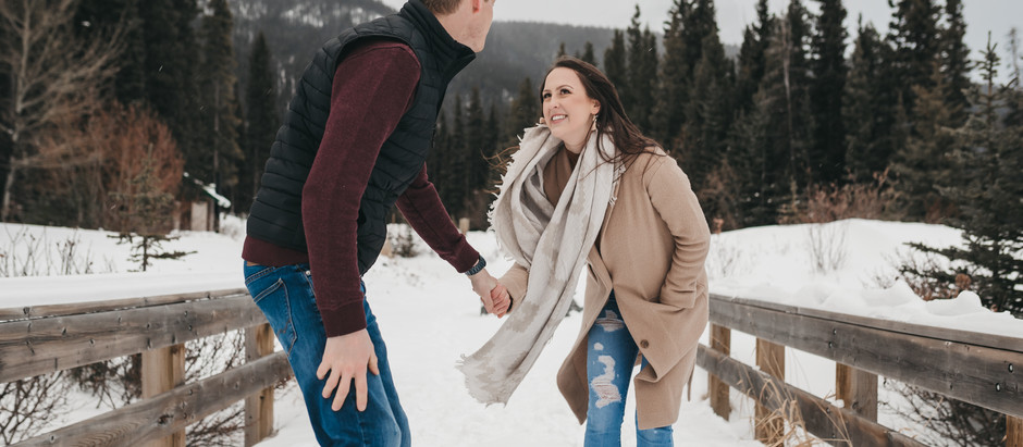 Winter Mountain Engagement Session // Brandi & Ryley