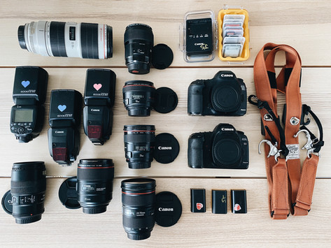 Inside our camera bags