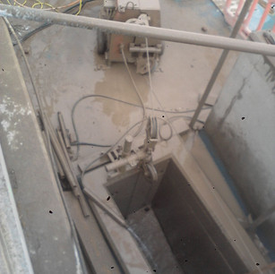 wire sawing a large vent duct.