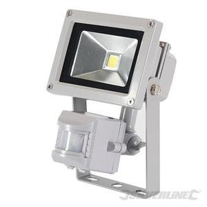 SILVERLINE LED Floodlight With PIR 10w