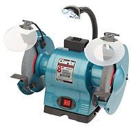 "CLARKE CBG8370L 8"" BENCH GRINDER WITH LAMP"