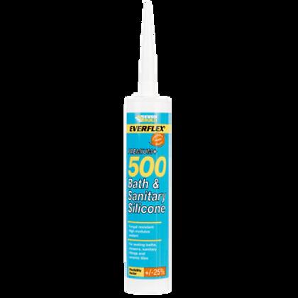 EVERBUILD 500 Bath & Sanitary Silicone