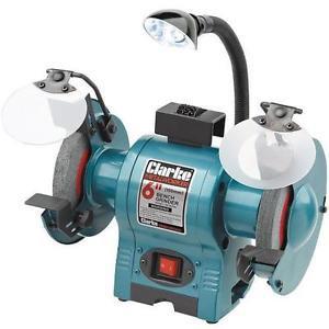"CLARKE CBG6250L 6"" Bench Grinder With Lamp 250w"