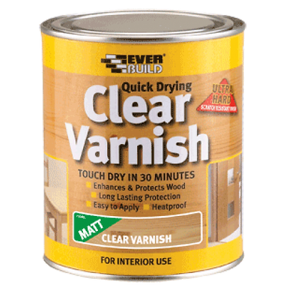QUICK DRYING CLEAR VARNISH 250ml