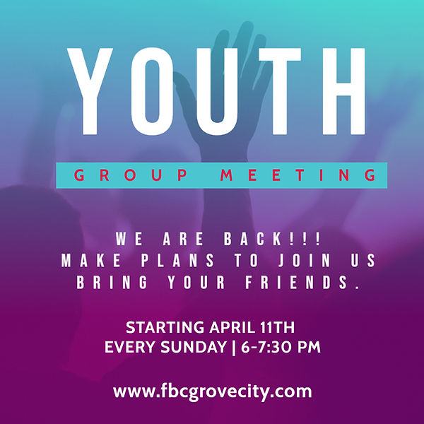 Copy of YOUTH MEETING FLYER - Made with
