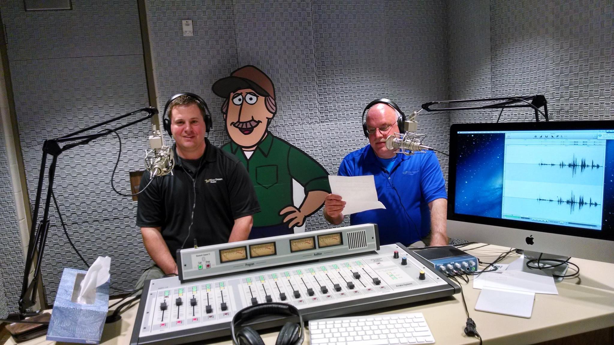 Jeff and Tony at a Radio Show