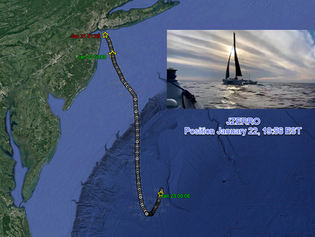 JZERRO entered Gulf Stream, January 22nd Evening position