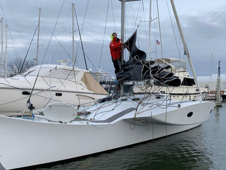 JZERRO is safely berthed at Hampton Yacht Club.