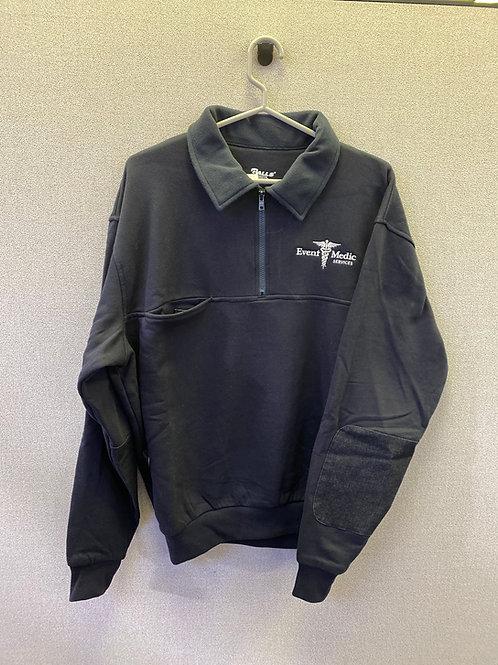 Navy Microfleece Collar Workshirt