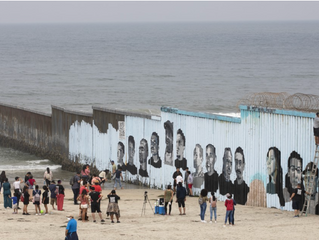 Interactive mural at the Tijuana-San Diego border showcases stories of migration
