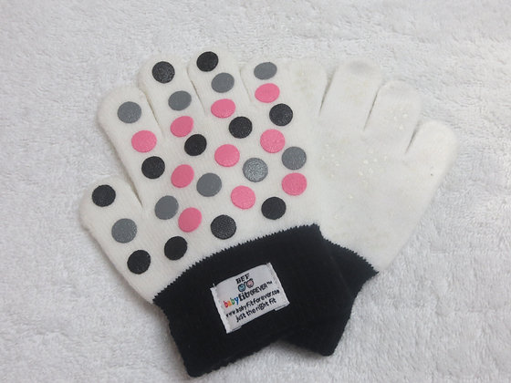 Girls Gloves – Polka Dots