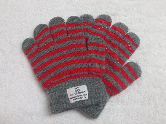 Boys Gloves - Red Stripes