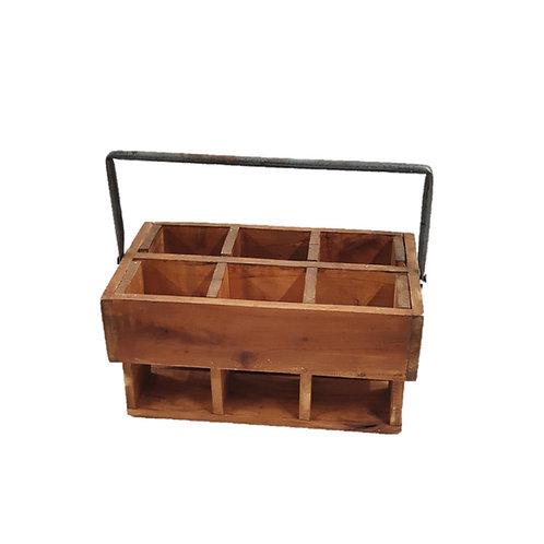 קופסת אחסון מחולקת מעץ