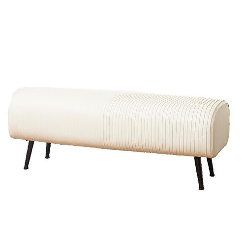 ספסל לבן בד פסים