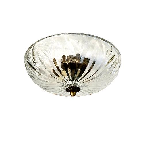 """מנורת תקרה שקופה- """"יונתן"""" עם שתי נורות נעיצה"""