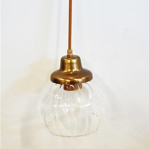 """מנורת תלייה- """"עדי"""" זכוכית פלחים"""