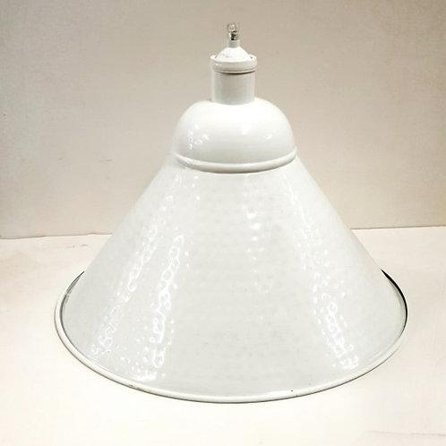 מנורת תליה קונוס מתכת- לבן