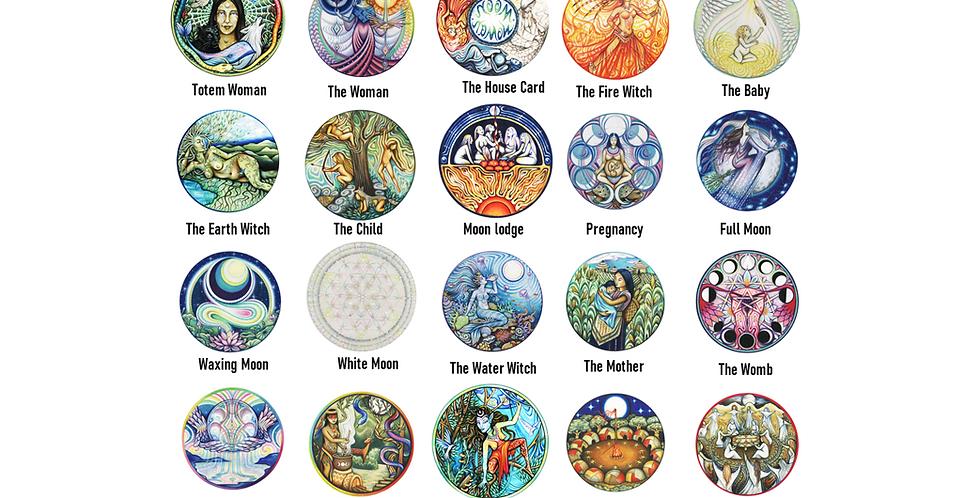 Moon Woman-feminine lunar- Shamanic Healing Stickers