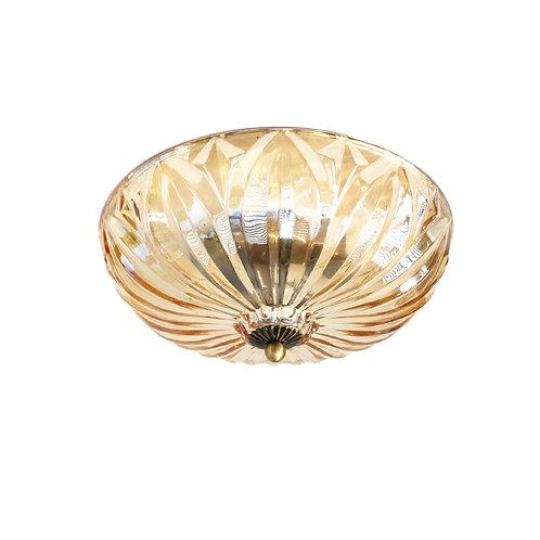 """מנורת תקרה- """"יונתן"""" בצבע ענבר עם שתי נורות נעיצה"""
