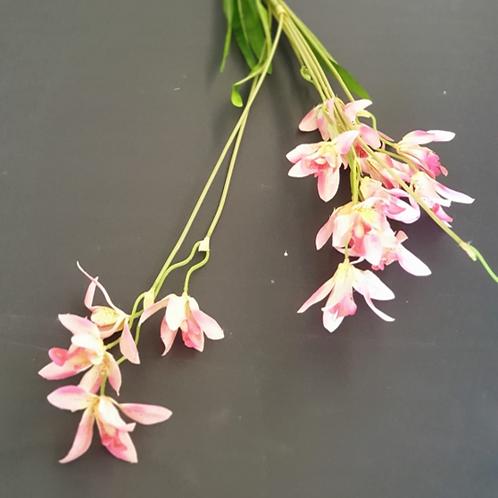ענף סחלב ננסי- פרחי משי לעיצוב הבית
