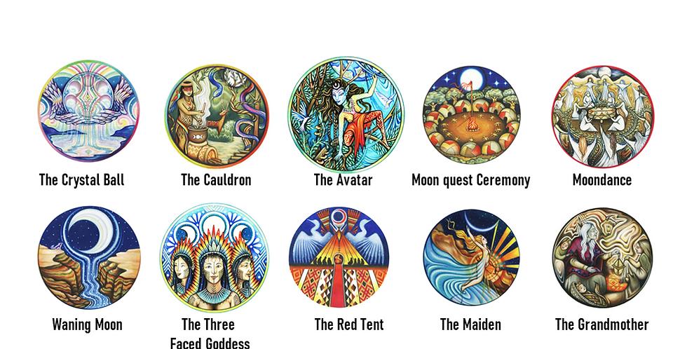 Moon Woman- Waning moon - Shamanic Healing 10 Stickers