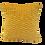 Thumbnail: כרית נוי אפקט מכווץ- צהוב חלמוני