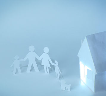 Made of paper people and house.jpg