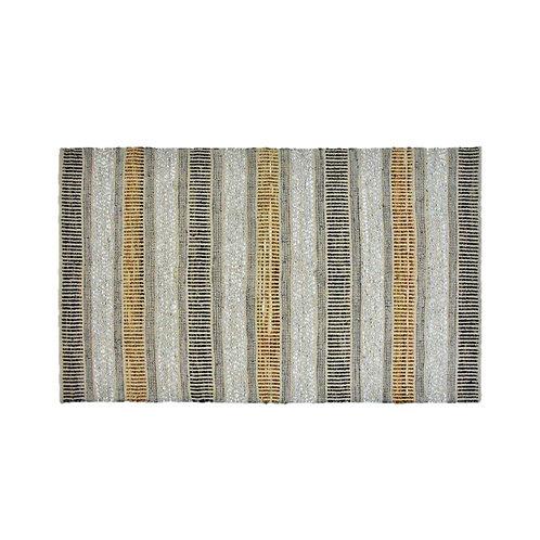 שטיח גדול- פסים אפור ובז'