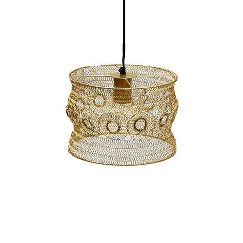 מנורה מעוצבת קטנה חוטי רשת דקורציה עיגולים - זהב