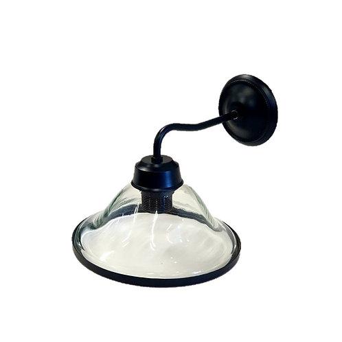 מנורת קיר זרוע שחורה