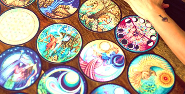 Moon Woman Shamanic Healing Cards+30 Stickers