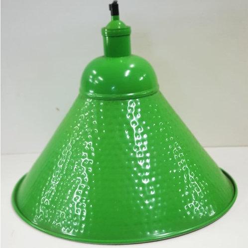 מנורת תליה קונוס מתכת- ירוק
