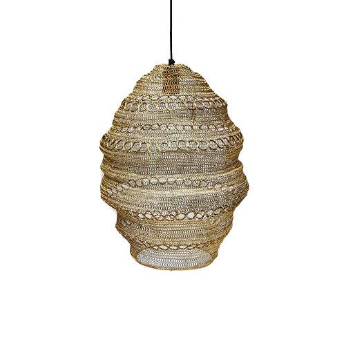 מנורת חוטי רשת עם דקורציית עיגולים בצבע זהב