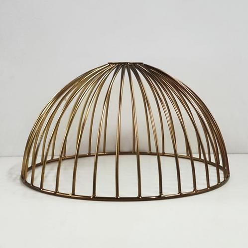 מנורת תליה חוטי רשת- חצי כדור זהב