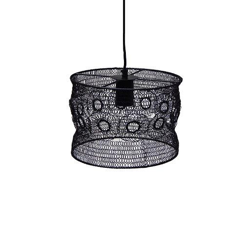 מנורה מעוצבת קטנה חוטי רשת דקורציה עיגולים - שחור