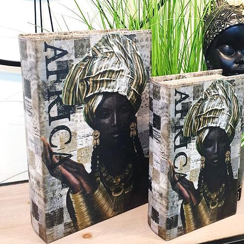 סט קופסאות במראה ספר מלכה אפריקאית