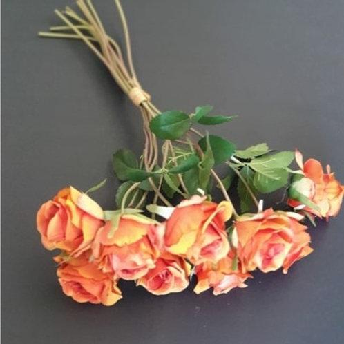 בוקט ורדים כתום - פרחי משי לעיצוב הבית