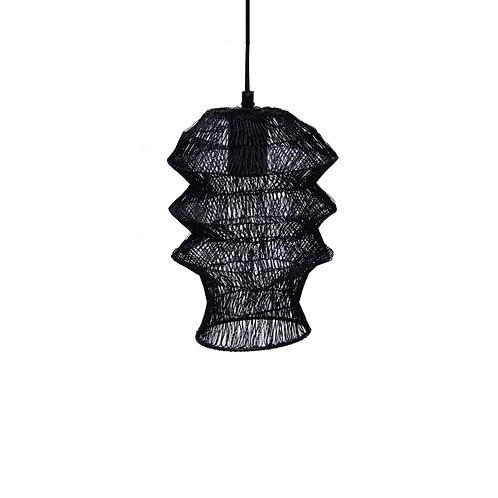 מנורה קטנה מחוטי רשת בצבע שחור א-סימטרית