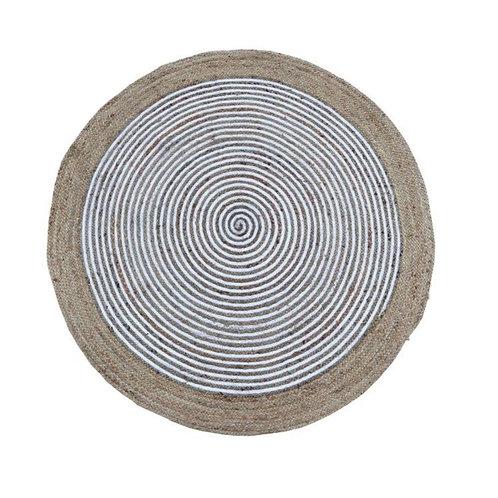 שטיח יוטה טבעי לבן