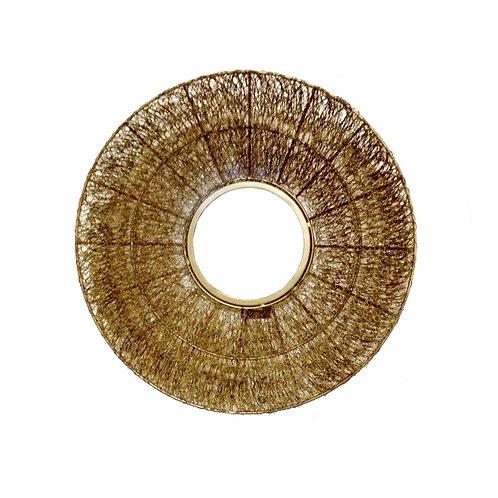 מראה חוטי רשת זהב קלועה בעבודת יד אומנותית בצבע זהב
