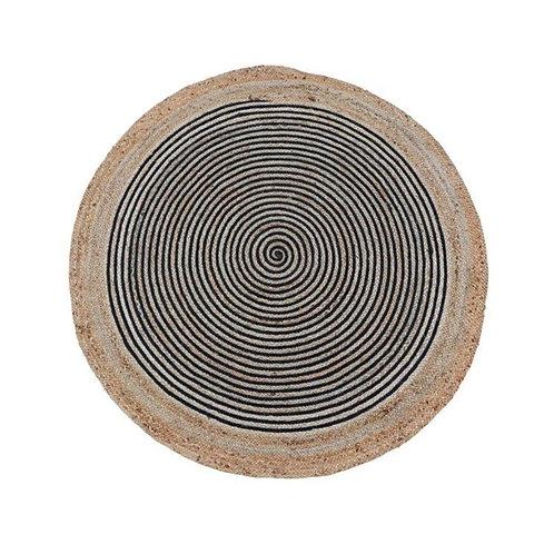 שטיח יוטה טבעי שחור